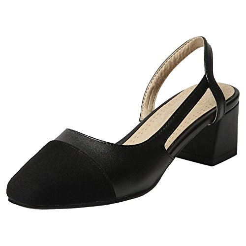 Coolcept Women Fashion Closed Toe Spring Summer Shoes Black MkipETuGr