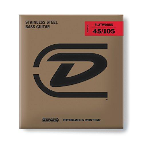 Dunlop DBFS45105 Flatwound Bass Strings, Medium