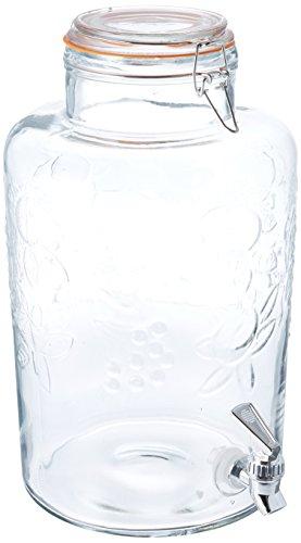 Style Setter Vineyard Fruit Beverage Dispenser, Clear, 2.5 Gallons