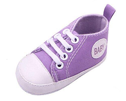 Gorgeous Baby Sneakers,Dealzip Inc Cute Purple Newborn Baby Boy Girl Soft Crib Canvas Sneaker Shoes 6-9 Months ()
