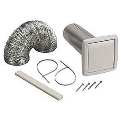 Bathroom Exhaust Kit - NuTone WVK2A Flexible Wall Ducting Kit for Ventilation Fans, 4-Inch