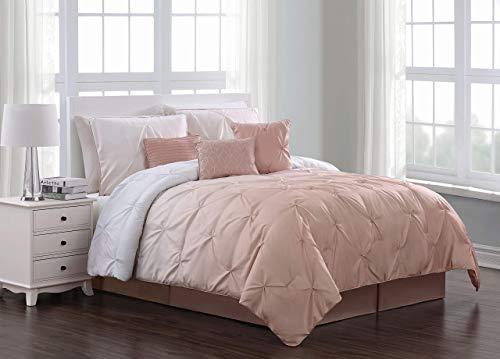 Geneva Home Fashion Bergen Ombre Comforter Set, Queen, Blush (Renewed)