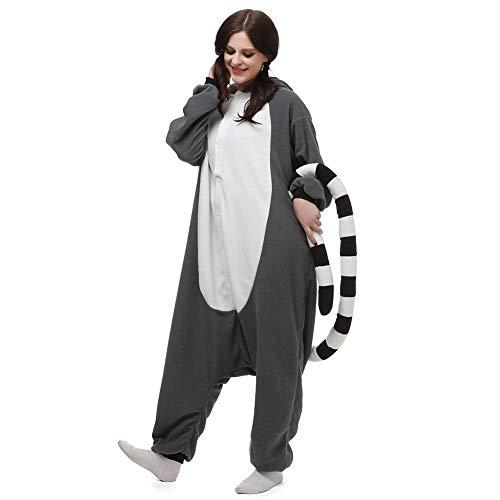 Pigiama per Lemure Bambini Kigurumi Unisex Cosplay Adulti Animale zOT7cqx
