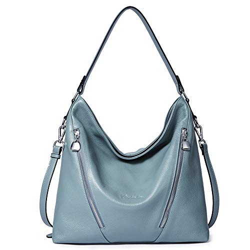 - BOSTANTEN Women Leather Handbag Designer Large Hobo Purses Shoulder Bags Blue