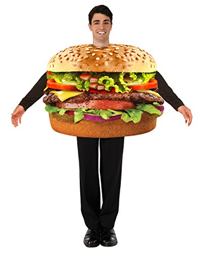 Forum Men's Hamburger Costume, Multi, One (Hamburger And Fries Halloween Costumes)