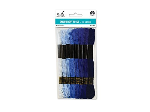 Blue Embroidery Floss - Needlecrafters Cotton Embroidery Floss, 8m, Blues,