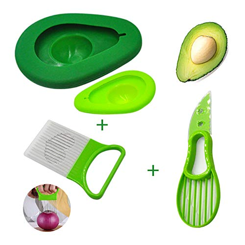 Sunnycows Kitchen Tools Set, 3-in-1 Avocado Slicer,Avocado Saver and Silicone Food Storage Holder,Free Gift Vegetable Slicer Not Just for Onion by Sunnycows (Image #6)