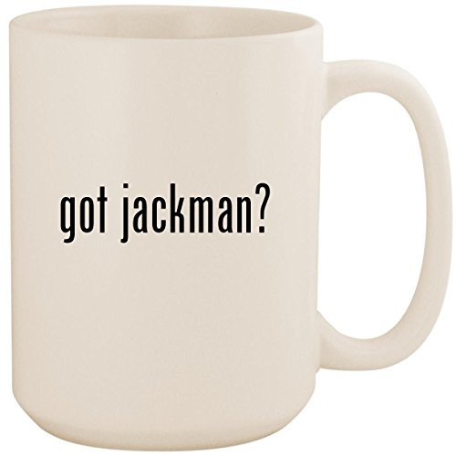got jackman? - White 15oz Ceramic Coffee Mug ()