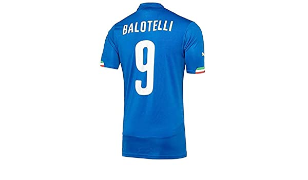 9b3c98ad6 Amazon.com  Puma BALOTELLI  9 Italy Home Jersey World Cup 2014 (Authentic  name and number) YOUTH  Sports   Outdoors