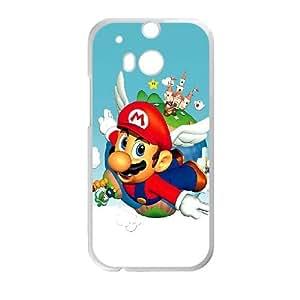 HTC One M8 Cell Phone Case White Super Mario Bros Back Hard Phone Case Cover XPDSUNTR35780