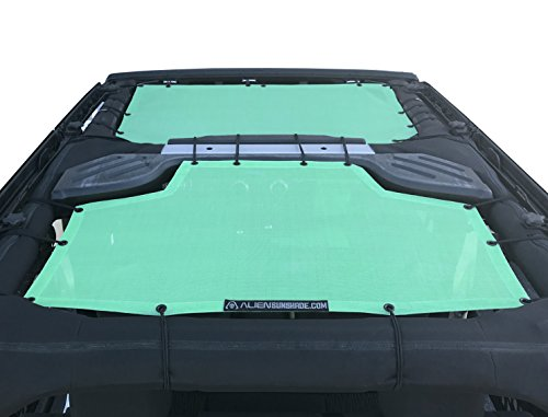 Gift Blue 2007-2017 ALIEN SUNSHADE Jeep Wrangler Mesh Shade Top Cover with 10 Year Warranty Provides UV Protection for Your 4-Door JKU