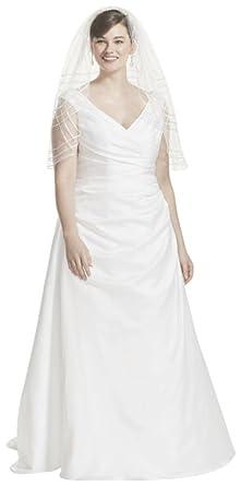 v neck plus size wedding dresses