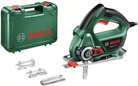 Bosch EasyCut 50 - Sierra (Tecnología NanoBlade, hoja de sierra, tapa protectora, protección contra astillas y maletín, 500W)