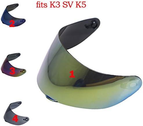 B Baosity 2個 交換用 ヘルメットバイザー オートバイ AGV K3SV K5用 2色
