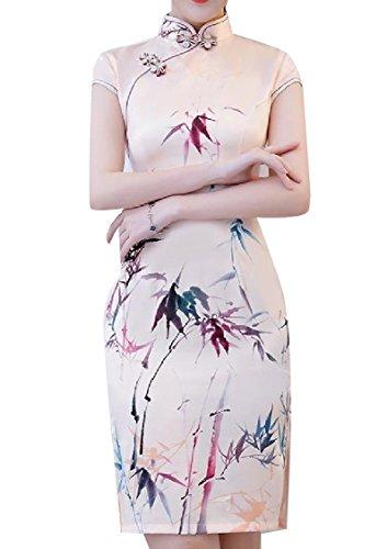 Collare Piedi Vestito Pittura Diviso Del In Dal Partito 12 Vestito Coolred Del donne Cheongsam tBwqHH