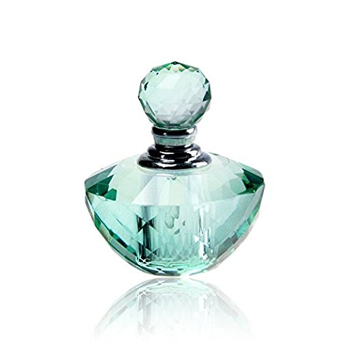 H&D Vintage Light Green Crystal Empty Refillable Mini Perfume Bottle 4ML