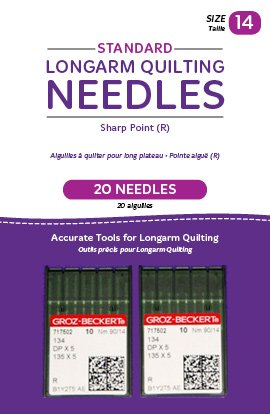 Best Prices! Handi Quilter Longarm Quilting Needles - Standard Sharp Point (R) Size 14 (Pack of 20)