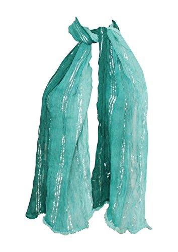 Amtal Women Chevron Zig Zag Design Multi Color Infinity Lightweight Scarf