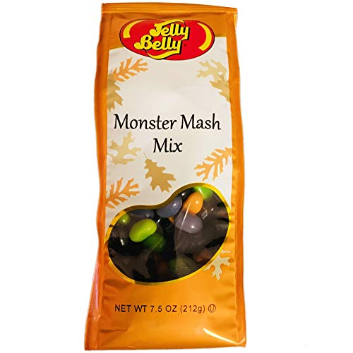 Halloween Sherbet Punch (Jelly Belly Monster Mash Mix 7.5 Ounce! Flavors Island Punch, Wild Blackberry, Orange Sherbet & Kiwi! Fat Free, Gluten Free And Peanut Free! Perfect Candy For A Halloween)