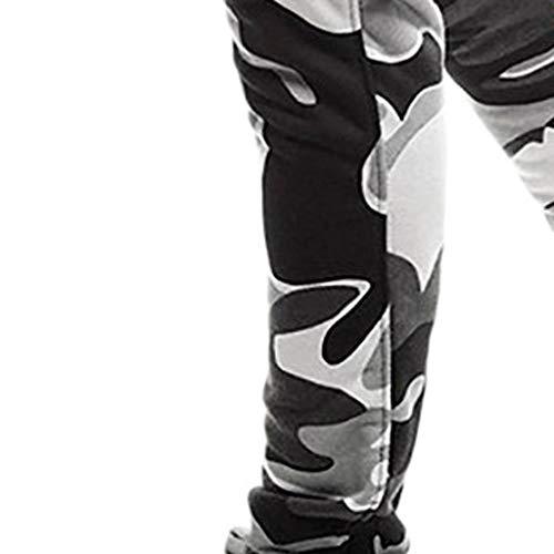 Pantalon Jeans Salopette Manadlian Camouflage Pantalons Épissage Hommes Sport De Noir Casual Travail Pants TqRP8gwRZ