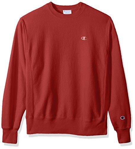 (Champion LIFE Men's Reverse Weave Sweatshirt, Sideline Red Pigment Dyed, 3XL)