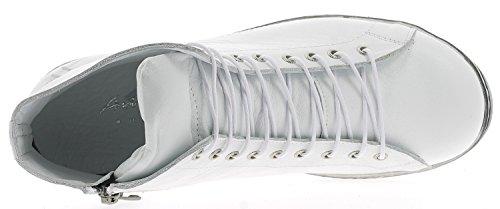 Andrea Conti 0341500 Scarpe Da Donna Tacco Basso Sneaker Bianco Alto