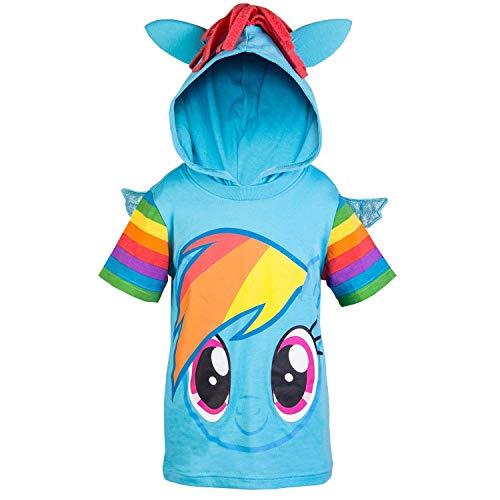 My Little Pony Hooded Shirt - Rainbow Dash, Twilight Sparkle, Pinky Pie - Girls (Rainbow Dash, Large-12/14) -