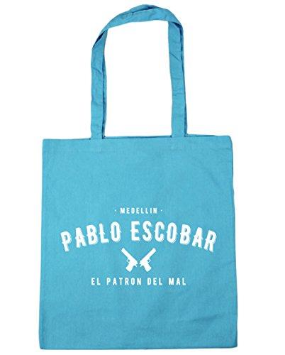HippoWarehouse Pablo Escobar el patron del mal Tote Compras Bolsa de playa 42cm x38cm, 10litros azul (Surf Blue)
