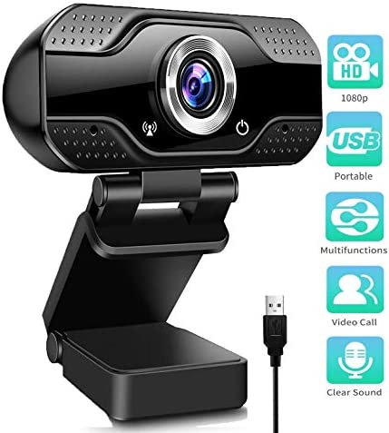 1080P Full HD Webcam Streaming Web CameraMicrophones Webcam for Gaming Conferencing & Working Laptop or Desktop PC USB Computer Camera for Mac Xbox YouTube Skype etc.