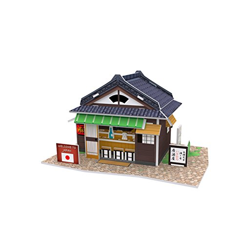 (Lelifang 3D stereoscopic new listing world style hut building assembly model children 's toys W3102 Japan - Izakaya)
