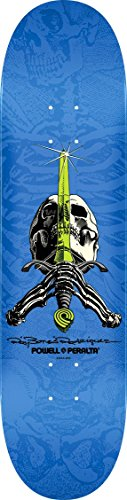 Powell-Peralta Ray Rodriguez Skull & Sword Popsicle Shape Blue - Ray Bones Rodriguez