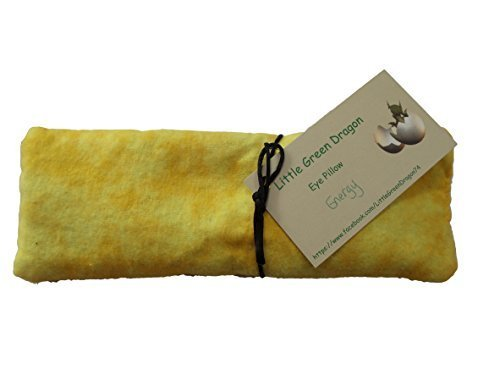 Handcrafted Eye Pillow for Energy with Lemon Verbena Eucalyptus and Flax Hot or Cold ()