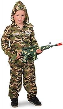 Folat 63280 – Sniper Camuflaje Disfraz Joven – Tamaño 116 – 134 ...