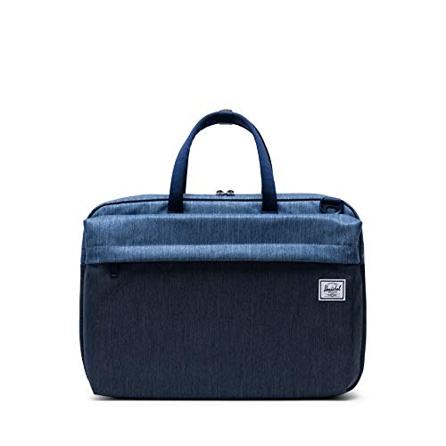 - Herschel Sandford Laptop Messenger Bag, Faded Indigo Denim, One Size