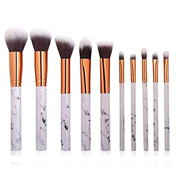 ff0b30a1e254 Amazon.com: Obteun Makeup Brushes 5-10 Pieces Makeup Brush Set ...