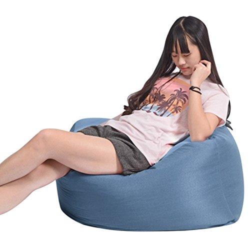 Jiyaru Bean Bag Chair Adults Kids Lazy Sofa Gaming Chair Indoor Outdoor Beanbag Blue by Jiyaru