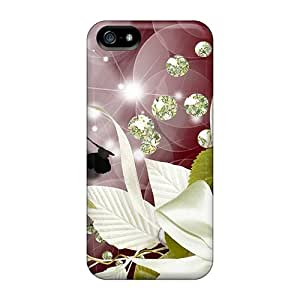 LatonyaSBlack Design High Quality Ribbons Butterflies Cover Case With Excellent Style For Iphone 5/5s