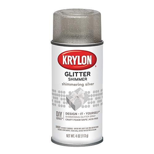 Krylon Shimmering Silver Glitter Spray, 4 Oz.