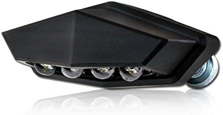 Led Motorrad Kennzeichenbeleuchtung Vento Alu Schwarz Maße B 46 X H 21 X T 17 5 Mm E Geprüft Stück Auto