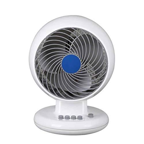 Gelaiken Desktop Fan Home Fan Fan Fan Fan, Home Office Ultra-Quiet Desk Fan Student Dormitory Fan, White,White Table Desk Fan for Home and Travel (Color : White) by Gelaiken (Image #5)