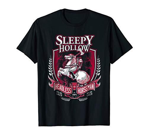 The headless horseman shirt hollow halloween witch costume]()