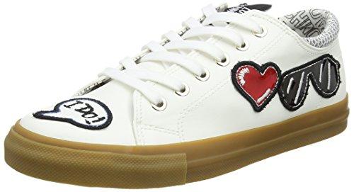 white Para pu Love sp105 Moschino Mocasines rete Vit Blanco Mujer Scarpad 30 Bianco rXq7wzX
