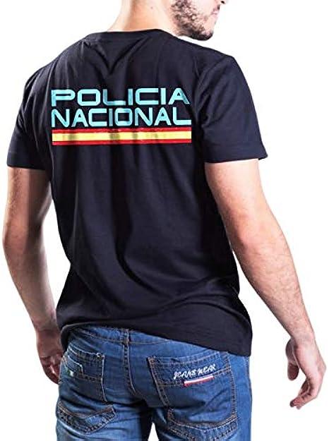 Camiseta Aircops Policia Nacional Hombre Azul Marino Talla S: Amazon.es: Ropa y accesorios
