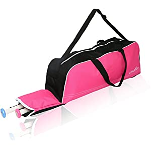 Athletico Baseball Tote Bag - Tote Bag for Baseball, T-Ball & Softball Equipment & Gear for Kids, Youth, and Adults | Holds Bat, Helmet, Glove, & Shoes | Fence Hook (Pink)