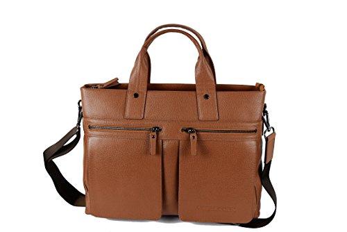 37x32x11 Misure Messenger Pelle Borsa Valigetta Satchel Vintage Tan Zerimar Cm Tracolla Bag Bz7Ozq