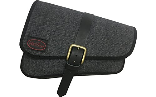 - La Rosa Design Left Side Black Denim Solo Saddle Bag for 2016 & Up Triumph Bobber