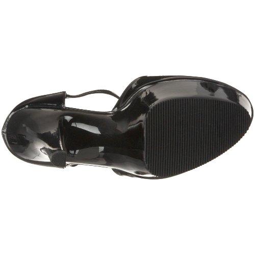 Pleaser Kiss-248 - Zapatos de pulsera Mujer Blk Pat/Blk