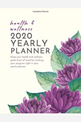 "Health and Wellness 2020 Yearly Planner: 8.5x11"" Yearly Self Care, Fitness, Mood and Goal Tracking Yearly Planner (purple lotus) Paperback"