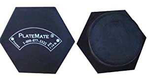 PlateMate Microload Pair 1 1/4 lb. Magnetic Hex Weights