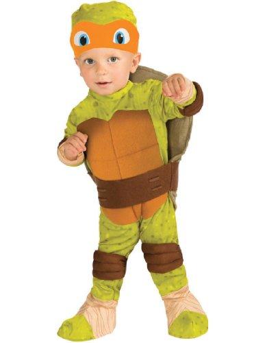 Teenage Mutant Ninja Turtles Baby Halloween Costumes (Teenage Mutant Ninja Turtle Toddler Costume Michelangelo (Orange) -)